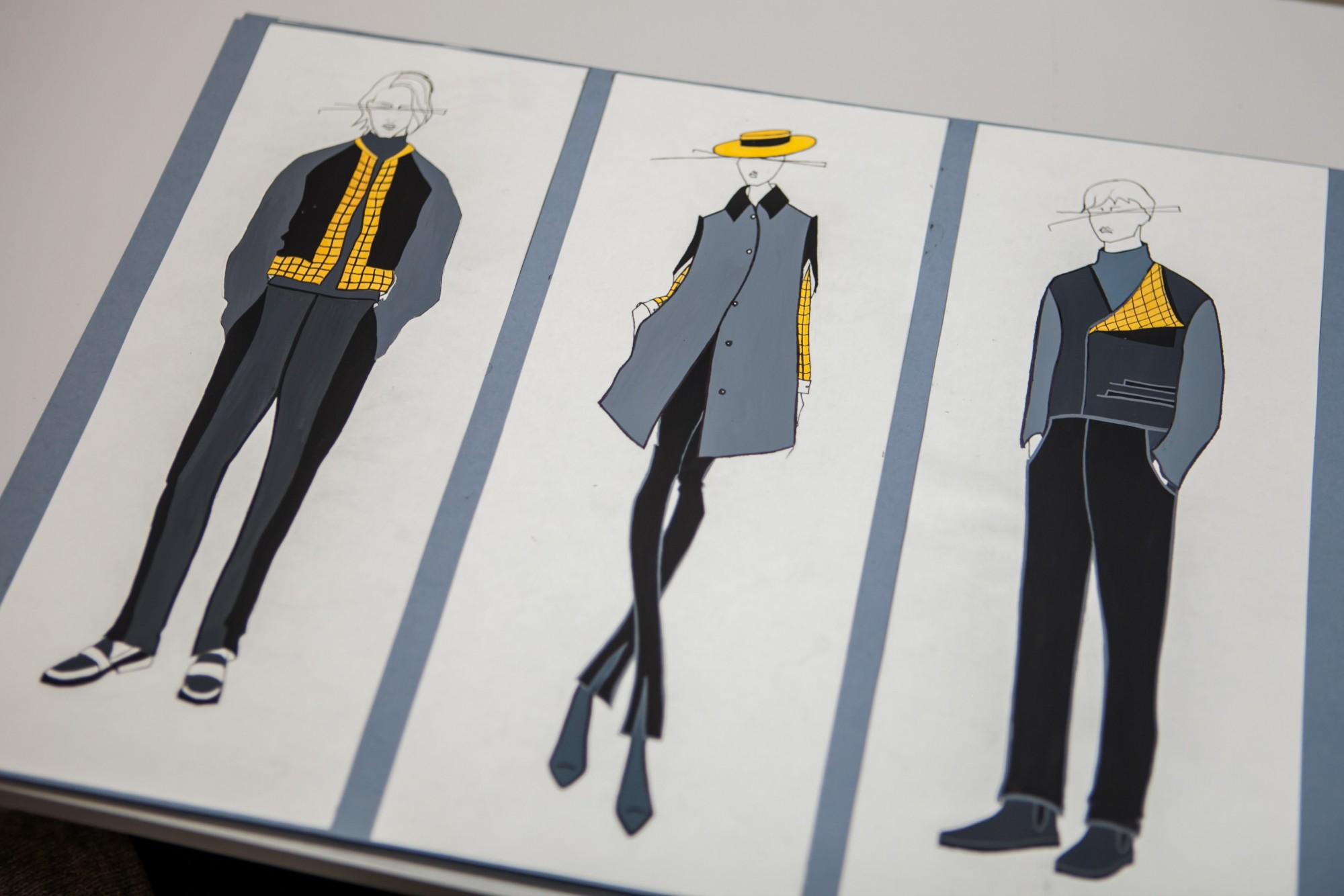 дизайн костюма работы студентов